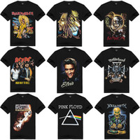 ac dc t-shirt achat en gros de-T-shirt Heavy Metal Rock Homme Hip Hop Tops Streetwear AC DC Iron Maiden Manches Courtes Coton Noir Chemises Hommes Femmes Skateboard Tee HAH0301
