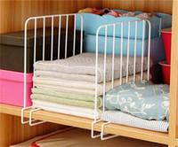 ingrosso vernice design casa-3pcs Anti Skid Clothes Rack Rack Home Urijk Separato Shelf Dividers Durevole Ferro Bianco Spray Paint Design Cassetto Organizer 39o Y