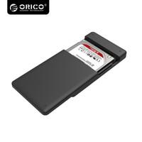 en iyi sabit sürücüler toptan satış-Toptan-ORICO 2.5 HDD Muhafaza Sata USB 3.0 HDD Case Aracı Ücretsiz için 7mm / 9.5mm 2.5 sabit disk sürücüsü 2577U3-BK