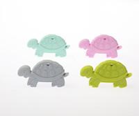 brinquedos de tartaruga venda por atacado-Tartaruga de Silicone Em Forma de Pingente de Colar Bebê Teether Grau Alimentício Silicone Beads Dentição Colar Brinquedo Mastigável Enfermagem Jóias