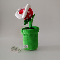 Wholesale piranha toys resale online - High Quality Cotton inch cm Piranha Plant Super Mario Bros Plush Toy For Child Holiday Gifts