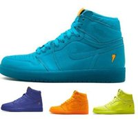 Wholesale Top High Cut Shoe Brands - Top 1 Gatorade Basketball Shoes Men Mens Black OG Wool Line 1s I UNC High Skateboard Sport China Brand Chicago Homme Shoe Cheap