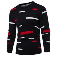 suéter de moda m al por mayor-Sweater Pullover Hombre 2017 Marca Masculina Casual Mulit-Color Moda Simple Suéteres Hombres Cómodo Hedging O-Neck Men's Sweater
