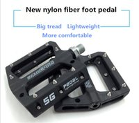bisiklet pedalları toptan satış-Yüksek kaliteli Dağ bisikleti bisiklet bisiklet naylon fiber yatak pedalı kaymaz taşınabilir ayak pedalı Dört renk isteğe bağlı