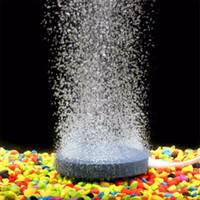 mini bombas de pescado al por mayor-Bubble Stone Fish Air Tank Pump Pequeño para acuarios Placa de oxígeno hidropónico Mini acuario Adornos Accesorios para tanques