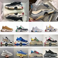 Wholesale most yellow - Most Trendy 2018 Top Quality New Color Triple-S Sneakers Men Women Running Shoes Sports Shoes Standard Size 36-45
