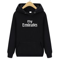 Wholesale fly hoodies - 2018 New Fly Emirates Sportswear Printed Men Hoodies Sweatshirts Slim Fashion Hoody 100% Cotton Tops Long Sleeves Free Shipping