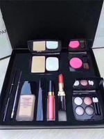 Wholesale perfect powder - Famous brand! Perfect Goddess 9 piece set Foundation powder Blush with brush Liquid foundation lipstick lipgloss eyeshadow palette eyeliner