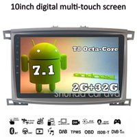 Wholesale 2g mp4 player - SHUNDA 10 inch HD Android 7.1 T8 2G 32G Car DVD for Toyota LC 100 Land Cruiser 100 2003-2007 With 3G 4G WIFI GPS Radio BT Navi RDS