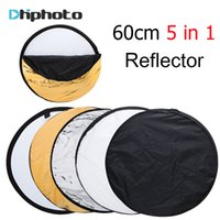 Wholesale portable photography light kit online - 24 quot cm in Portable Collapsible Round Photography Fotografia Reflector for Photo Studio Multi Photo Disc Flash Light