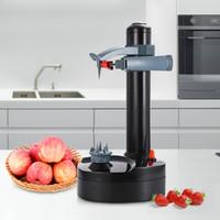 patates sebze soyucu toptan satış-Creati İşlevli Paslanmaz Çelik Elektrikli Soyucu Otomatik Meyve Sebze Soyucu Bıçakları Patates Soyma Makinesi