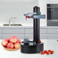machine à légumes achat en gros de-Éplucheur électrique multifonctions d'acier inoxydable de machine automatique de pelage de pommes de terre de légumes de fruits automatiques de Creati