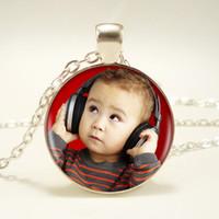 fotos de amor do bebê venda por atacado-Personalizado Imagem Pingente Qualquer coisa Foto Personalizada Colar Seu Bebê Criança Mãe Pai Avô Amor Presente para a Família Presente