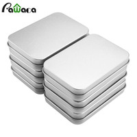 Wholesale tin gift containers - 6PCS Mini Metal Tins Box Set Sealed Jar Jewelry Candy Box Small Storage Coin Earrings Headphones Gift Case Containers