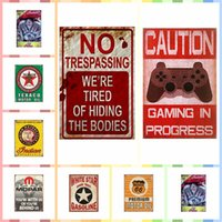 Wholesale game room art online - GAME IN PROCESS cm Metal Tin Signs Paint Luxury Home Decor Posters Wall Art Crafts Supplies Art Painting Supplies Room Decor