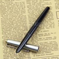nueva pluma de héroe al por mayor-Nuevas plumas estilográficas de acero inoxidable Hero 329 Black W15