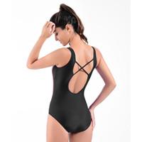 bodysuits mais de tamanho feminino venda por atacado-Patchwork Novo One Piece Swimsuit Swimwear Mulheres Esporte Sexy Backless Bodysuits Maiôs Maiôs Plus Size Swimsuit Do Vintage