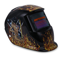 Wholesale electric welding helmets resale online - Skull Solar Auto Darkening MIG MMA Masks Electric Welding Mask Helmet Welder Beauty Pattern Cap Welding Lens for Welding Machine