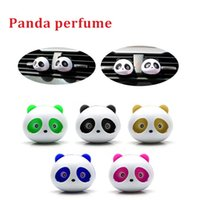 Wholesale car interior perfumes online - Car Styling Air Conditioning Vent Air Freshener Car Outlet Perfume Cute Panda Eyes Will Jump Colors Auto Interior Decora For Benz BMW
