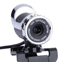 webcam linsen großhandel-360-Grad-Webcam 12-Megapixel-CMOS-Webkamera 10-facher optischer Zoom-Clip am Computer Professionelles Objektiv für Laptop-Computer für Skype