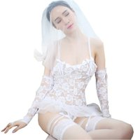 Wholesale lingerie dress porn - Porn Erotic Lingerie For Women Cosplay White Bride Wedding Dress Uniform Sexy Lingerie Hot Temptation Sexy Costumes Underwear