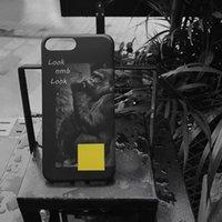 affentelefonabdeckungen großhandel-Europäischer und amerikanischer populärer Logo-Affe-Handyfall iPhone7-Monogrammapfel 6s Schutzabdeckung bereifte ganze Verpackung weich