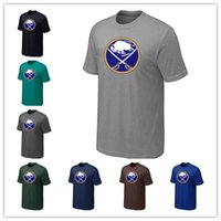 Wholesale autumn john - News Buffalo Sabres Ice hockey T-shirt for men and women In the spring and autumn Offset printing free shipping