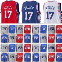 Wholesale Iverson Jerseys - 2017-2018 New 76er 17 JJ Redick 3 Iverson Jersey Men's 21 joel embiid 25 Ben Simmons jerseys 20 Markelle Fultz stitched Embroidery