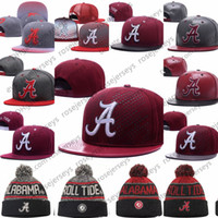 mezclar tapas de orden al por mayor-NCAA Alabama Crimson Tide Caps 2018 Nueva universidad Sombreros ajustables All University Snapback en stock Mix Match Wholesale Wholesale Gray Back Red