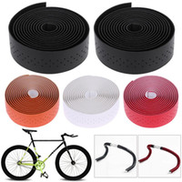 Wholesale leather belt plug for sale - 2pcs m PU Leather Bike Handlebar Tape Cycling Race Bicycle Grips MTB Cork Handlebar Tape Bar Plugs Mountain Belt Straps