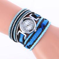 ingrosso wrap around wrist watch-Aimecor Women Watches Wrap Around Fashion Weave Leather Women Orologi Bracciale Orologio da donna al quarzo