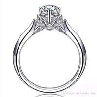 rings for bride Australia - Brand 925 Sterling Silver Couple swan Simulated Diamond CZ Gemstone Ring Finger Eternal Bride Wedding Rings for women