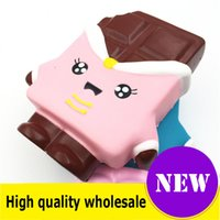 Wholesale toy chocolate for sale - Group buy Squishy chocolate high quality cm Slow Rising Soft Oversize Phone Squeeze toys Pendant Anti Stress Kid Cartoon Toy Decompression Toy