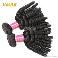 Wholesale human loose curl hair bundles resale online - 8A Human Virgin Funmi Hair Extension Bundles Brazilian Aunty Funmi Loose Wave Bouncy Curls Funmi Human Hair Wave