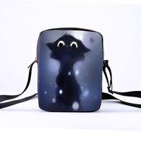 çanta kedi baskısı toptan satış-Özelleştirilebilir çocuk Crossbody Omuz Çantası Bayan Baskı Hayvan Kedi Tote Çanta Bayanlar ve Kızlar Messenger Kış Eğlence