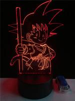 Wholesale face desk - Sun Wukong Acrylic 7Colors Desk Lamp 3D Lamp Novelty Led Night Light Millennium Falcon Light