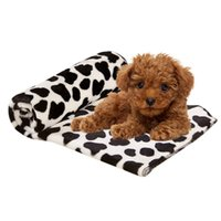 Wholesale Small Dog Beds For Sale - Wholesale-3 Size Cute Floral Pet Warm Star Print Cat Kitten Dog Puppy Fleece Soft Blanket Beds Mat Suitable for Small Large Pets Hot Sale