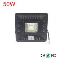weiße außenwandleuchten großhandel-1 STÜCKE IP65 Wasserdichte 50 Watt LED Flutlicht Scheinwerfer lampe außenbeleuchtung Warm / Kalt Weiß außenwandbeleuchtung AC220V 230 V 240 V