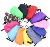Wholesale nylon sleeping bags - Lounge Sleep Bag Lazy Inflatable Beanbag Sofa Chair, Living Room Bean Bag Cushion, Outdoor Self Inflated Beanbag Furniture