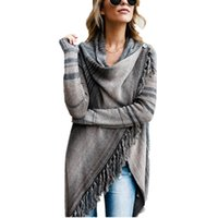 Wholesale new products computers for sale - Group buy Hot New Products Long Section Sweater Jacket Sweater Irregular Tassel Long Shawl Knitting Cashmere Stock