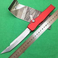 Wholesale portable t - HALO V Brand outdoor multi-function portable tactical automatic spring knife, D2 steel 60HRC aviation aluminum high quality lifesaving t