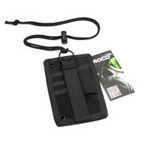 cordons tactiques achat en gros de-Porte-cartes d'identité tactique Crochet Boucle Patch Porte-badge Porte-clés, serre-nuque et porte-cartes organisateur de cartes de crédit Porte-cartes réglable Black / TAN