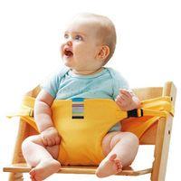 bebek sandalyeleri toptan satış-2018 Bebek Sandalyesi Taşınabilir Bebek Koltuğu Ürün Yemek Öğle Sandalye / Koltuk Emniyet Kemeri Besleme Yüksek Sandalye Demeti Bebek sandalyesi koltuk