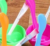 Wholesale mix bowls for sale - Group buy Women Cosmetic Makeup Tool In Bowl Mixing Brush Spoon DIY Facial Set Good Quality xg dd