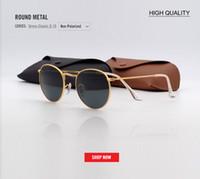 Wholesale 2018 new Fashion Round pink Sunglasses Women Luxury Metal Sunglasses Summer Outdoor UV400 black gradient designer gafas Eyewear Female
