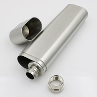 Wholesale wholesale cigar holders - Flat Stainless Steel Cigar Tube Holder Container Cigarette tobacco Travel Carry Carrying Case 2 OZ Free DHL HH7-877