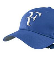 Wholesale baseball hat hooks - Spring Autumn 2018 NEW 100% Cotton New 2016 Spring and autumn Sports Cap Snapback Women and men Baseball Cap Roger Federer RF Hybrid Hat