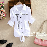 hemdkragen strickjacke groihandel-Kimono Cardigan Weißes Blusenhemd Frauen Umlegekragen Kimono Cardigan Weißes Blusenhemd Langarmhemden aus Leinenbaumwolle