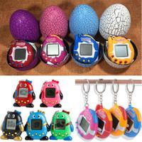 Wholesale pet penguin - Tamagotchi Toys Penguin Colorful Electronic Tamagochi Pets Toys With Tumbler Egg Shape Packaging Opp Bag Free Shipping