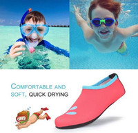 Wholesale boys water shoes - Free shipping Children Outdoor Swimming Shoes Breathable Summer Beach Socks Water Shoes Boys Girls Soft Diving Wading Shoes XS-XL